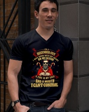 I'M A DECEMBER GUY V-Neck T-Shirt lifestyle-mens-vneck-front-2