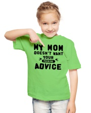 MY MOM - YOUR ADVICE Youth T-Shirt lifestyle-youth-tshirt-front-2