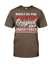 BUILT IN THE SEVENTIES Classic T-Shirt front