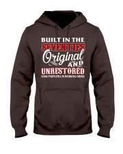BUILT IN THE SEVENTIES Hooded Sweatshirt front
