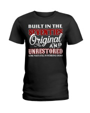 BUILT IN THE SEVENTIES Ladies T-Shirt thumbnail