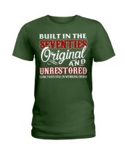 BUILT IN THE SEVENTIES Ladies T-Shirt front