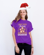 GRANDKID THERAPY Classic T-Shirt lifestyle-holiday-crewneck-front-1