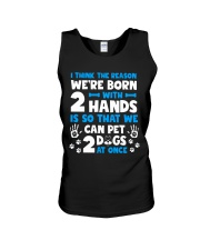 THE REASON WE'RE BORN WITH TWO HANDS Unisex Tank thumbnail
