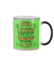TO MY SON - LOVE MOM Color Changing Mug color-changing-right