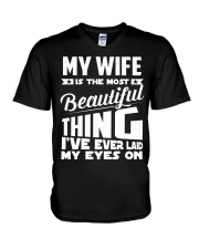 BEAUTIFUL WIFE V-Neck T-Shirt tile