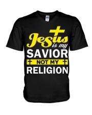 TSHIRT - GOD - jesus is my savior V-Neck T-Shirt tile