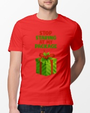 STOP STARING AT MY PACKAGE Classic T-Shirt lifestyle-mens-crewneck-front-13