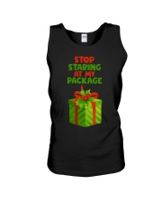 STOP STARING AT MY PACKAGE Unisex Tank thumbnail