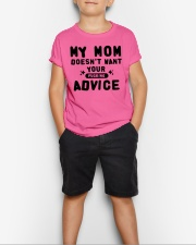 MY MOM - YOUR ADVICE Youth T-Shirt lifestyle-youth-tshirt-front-1