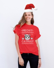 MEOWY CATMAS Classic T-Shirt lifestyle-holiday-crewneck-front-1