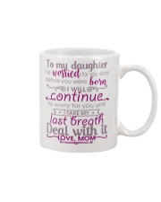TO MY DAUGHTER - LOVE MOM Mug front