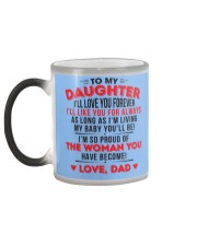 TO MY DAUGHTER - LOVE DAD Color Changing Mug color-changing-left