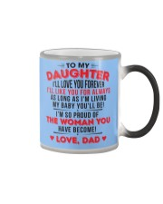 TO MY DAUGHTER - LOVE DAD Color Changing Mug color-changing-right