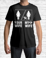 MY WIFE Classic T-Shirt lifestyle-mens-crewneck-front-1