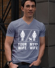 MY WIFE V-Neck T-Shirt lifestyle-mens-vneck-front-2