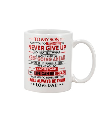 TO MY SON - LOVE DAD