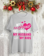 MY HEART BELONGS TO MY HUSBAND AND MY KIDS Classic T-Shirt lifestyle-holiday-crewneck-front-2