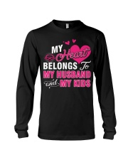 MY HEART BELONGS TO MY HUSBAND AND MY KIDS Long Sleeve Tee thumbnail