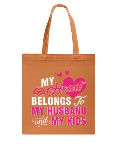 MY HEART BELONGS TO MY HUSBAND AND MY KIDS