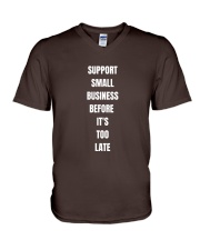 Support Small Business V-Neck T-Shirt thumbnail