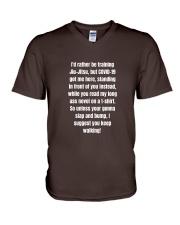 Keep Walking V-Neck T-Shirt thumbnail