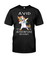 Avid Where The Adventure Begins Shirt Classic T-Shirt front