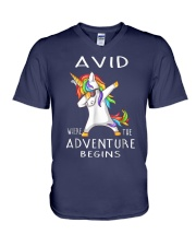 Avid Where The Adventure Begins Shirt V-Neck T-Shirt thumbnail