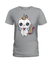 Caticorn Meowgical Rainbow T Shirt Cat Kittycorn U Ladies T-Shirt thumbnail