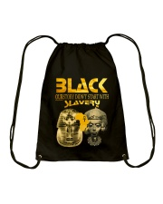 BLACK - SLAVERY Drawstring Bag thumbnail