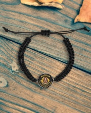 LIMITED EDITION FOR DAUGHTER  Cord Circle Bracelet aos-bracelet-cord-front-lifestyle-4