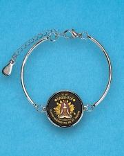 LIMITED EDITION FOR DAUGHTER  Metallic Circle Bracelet aos-bracelet-metal-front-lifestyle-3