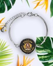 LIMITED EDITION FOR DAUGHTER  Metallic Circle Bracelet aos-bracelet-metal-front-lifestyle-7