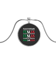 Italia Tshirt Metallic Circle Necklace thumbnail