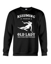 Assuming I'm Just An Old Lady - Skiing Crewneck Sweatshirt thumbnail