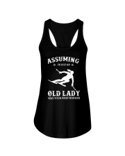 Assuming I'm Just An Old Lady - Skiing Ladies Flowy Tank thumbnail