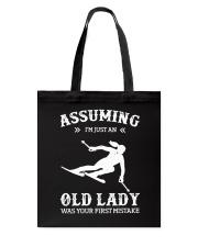 Assuming I'm Just An Old Lady - Skiing Tote Bag thumbnail