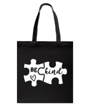 Be Kind Autism Awareness Puzzle Tote Bag tile