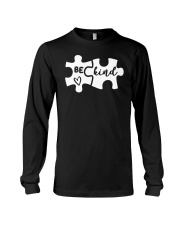 Be Kind Autism Awareness Puzzle Long Sleeve Tee thumbnail