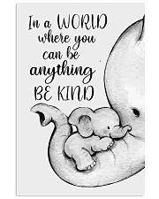 Elephant Mother And Baby - Be Kind 11x17 Poster front