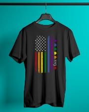 Pride US Flag Classic T-Shirt lifestyle-mens-crewneck-front-3