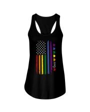 Pride US Flag Ladies Flowy Tank thumbnail