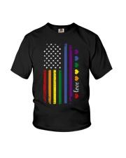 Pride US Flag Youth T-Shirt thumbnail