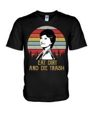 Eat Dirt And Die Trash V-Neck T-Shirt thumbnail