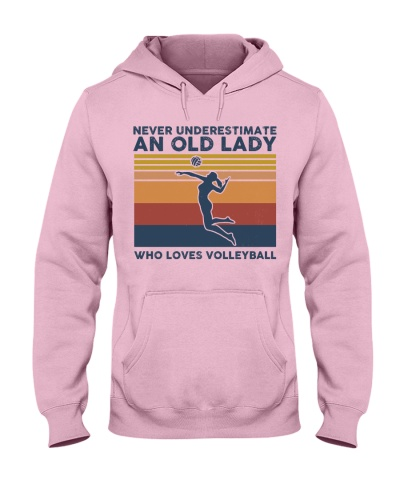 Never Underestimate An Old Lady Volleyball