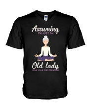Assuming I'm An Old Lady Was Your First Mistake V-Neck T-Shirt thumbnail
