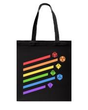 DnD rainbow dice Tote Bag thumbnail