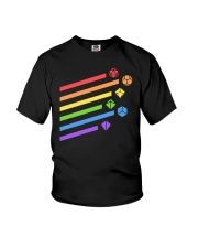 DnD rainbow dice Youth T-Shirt thumbnail