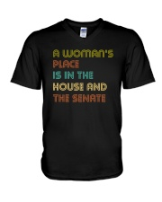A Woman's Place Is In The House And The Senate V-Neck T-Shirt thumbnail