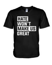 Hate Won't Make Us Great V-Neck T-Shirt thumbnail